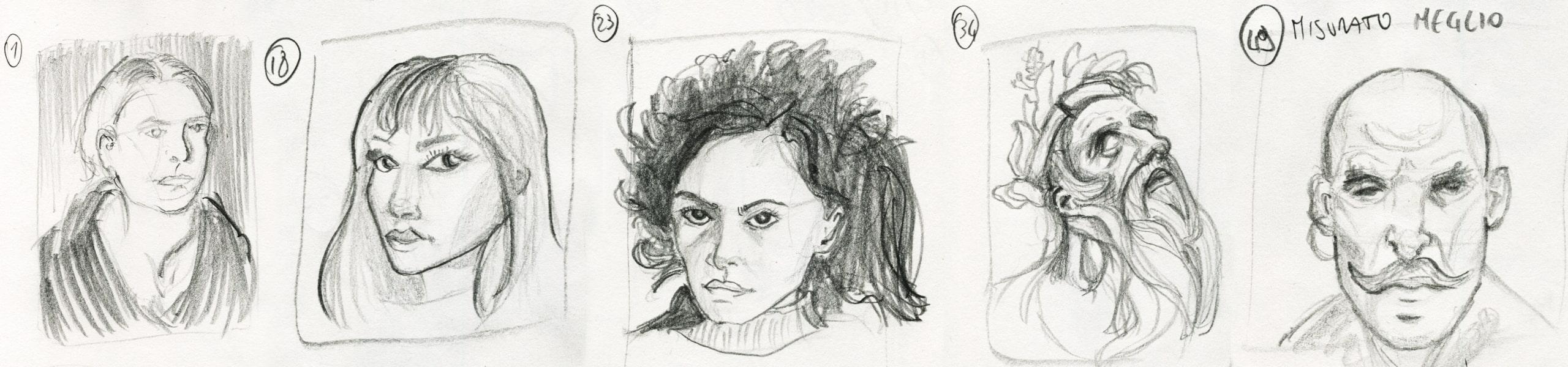Disegnare 100 ritratti in 10 giorni - Parte 1
