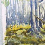 dipingere un bosco ad acquerello