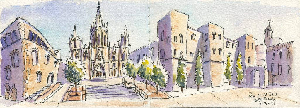 Sketch di pla de la seu, Barcellona