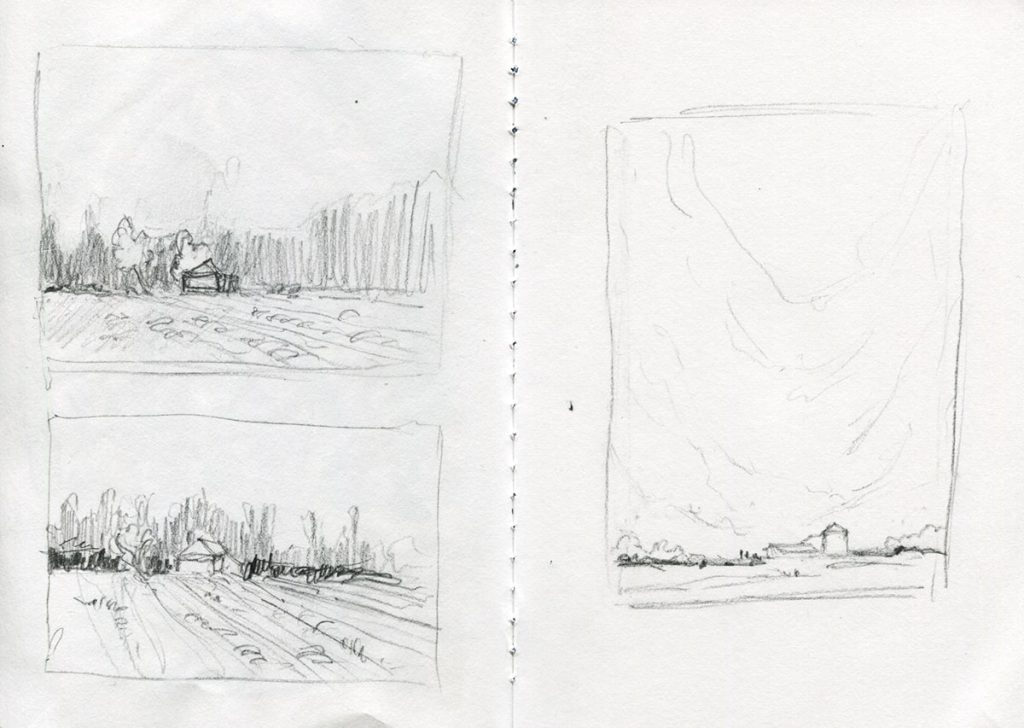 studi a matita per acquerelli