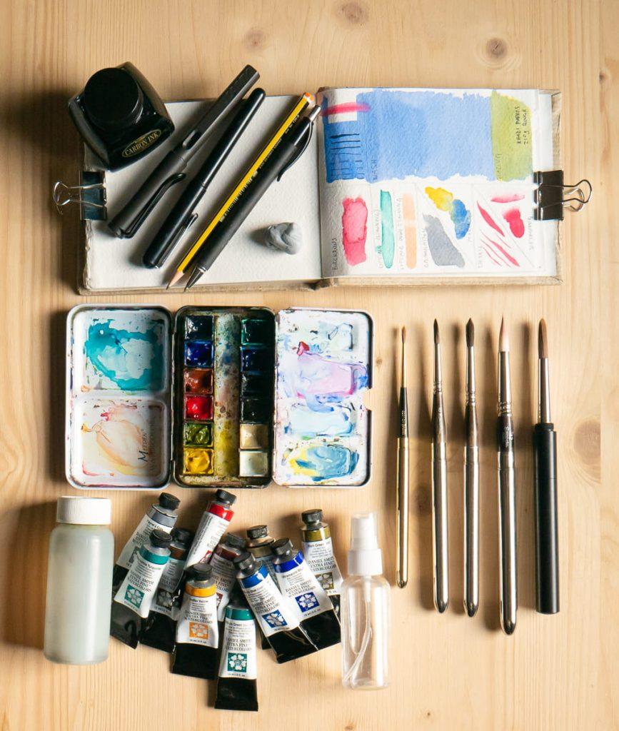 Setper disegno, acquerello e Urban Sketching en plein air