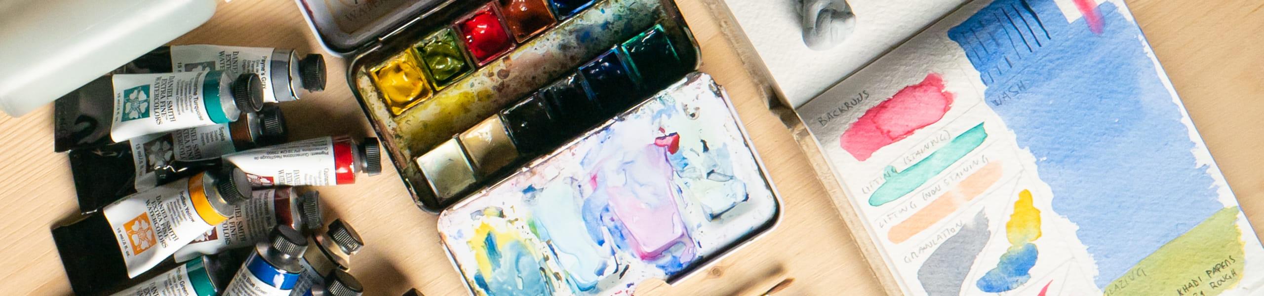 materiali disegno e acquerello